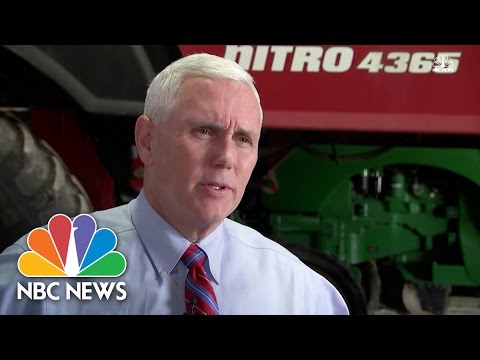 Mike Pence Responds To Donald Trump's 'Shackles Off' Tweet | NBC News