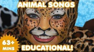 Animal Songs | 63 Mins  of Educational Kids Songs | Nursery Rhymes