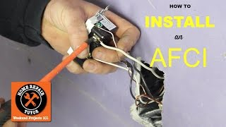 How to Install an AFCI Outlet -- by Home Repair Tutor