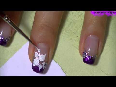 рисунок на ногтях гель лаком френч