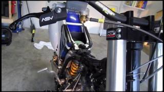 Part 71: Installing throttle cable. Motion Pro T2 throttle cable. YZ250F example.