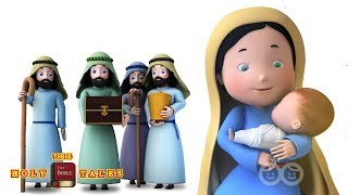 Away in a Manger | Christmas Songs | Bible Songs For Kids and Children | Holy Tales Bible Stories