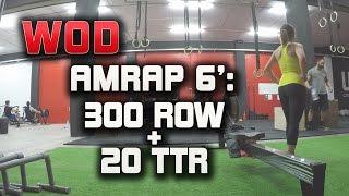 Crossfit WOD: AMRAP 300m ROW + 20 TTR