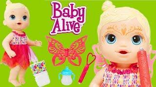 YENİ! Baby Alive Sihirli Peri Bebeğim Yüz Boyama Yaptım Tuvaletini Yaptı | Oyuncak Butiğim