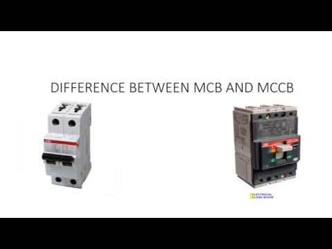 Difference between MCB and MCCB