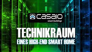 Ein Blick in den Technikraum eines High-End Smart Home mit Multiroom Audio + Video