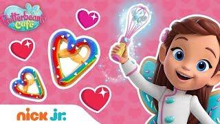 Heart-Shaped Rainbow Pretzel Recipe 🥨Butterbean's Café   Nick Jr.