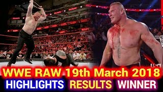 WWE Monday Night Raw 19th March 2018 Hindi Highlights - Roman Reigns | Brock Lesnar | Results Winner