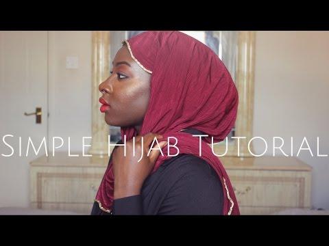 EVERYDAY SIMPLE HIJAB TUTORIAL | NO PINS