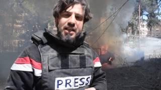 قصف بالطيرن الروسي على مدينة دوما مستمر ومجازر ترتكب بحق الاطفال والنساء الأن