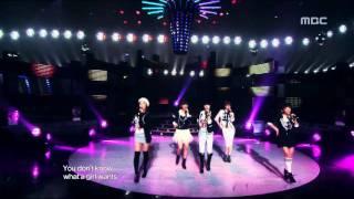 4Minute - What a girl wants, 포미닛 - 왓 어 걸 원트, Music Core 20091107