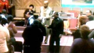 Apostle Lawrence G Campbell Sr anoints Kervy Brown