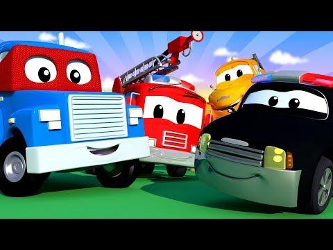 Miasto Samochodów z tom holownik carl super cieżarówka patrol policyjny Bajki Dla Dzieci LIVE