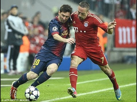 Franck Ribery vs Lionel Messi skills and goals HD