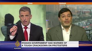 Mohammad Marandi has a heated interview with Al Jazeera's Peter Dobbie about the Iran Protests