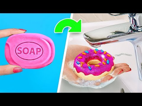 6 DIY Soaps Almost Too Pretty To Use Nutella Soap Donut Soap M&M's Soap