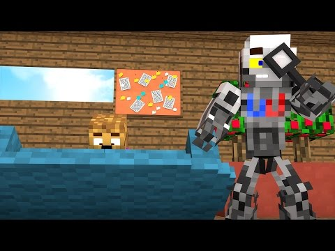 Minecraft: Baby Bacca and Wishbot SEARCH FOR BACCA GIRL
