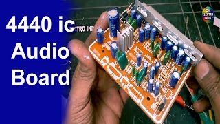 4440 ic Audio Board [DIY] Mounting, Cutting, Soldering hindi electronics ELECTROINDIA