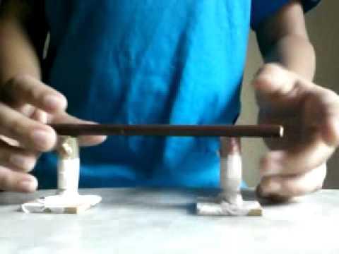 como fazer corrimão para skate de dedo simplificado