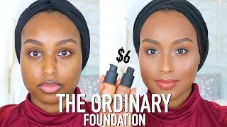 THE BEST FOUNDATION EVER!? | The Ordinary Coverage Foundation Review & Wear Test