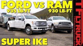 2018 Ram 3500 HD vs Ford F350 vs World's Toughest XXL Towing Test!