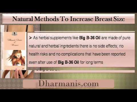 Increase Breast Size With Safe And Natural Methods