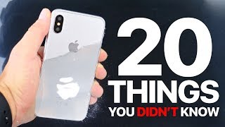 iPhone X/8 - 20 Things You Didn