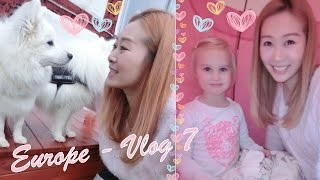 EUROPE 🇪🇺 VLOG 7 - VISITING MY DOGGIES FAMILY, FRIENDS & FAMILY IN DENMARK ♥
