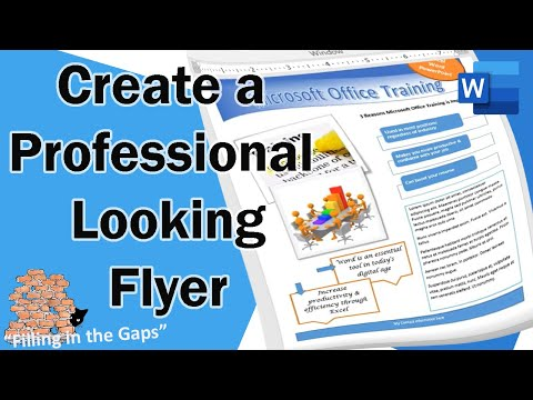 Create a Professional Looking Flyer in Microsoft Word