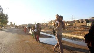 كاميرا الموصلية تتجول في كوكجلي وترصد خروج اول وجبة من نازحي الموصل
