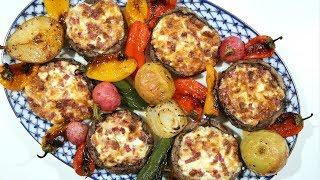 Bacon Cheese Stuffed Mushrooms - Heghineh Cooking Show