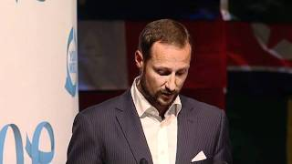 OYW 2011 Prince Haakon of Norway speaking at the Opening Ceremony