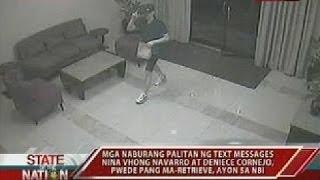 Text messages ni Cedric Lee kay Vhong Navarro matapos ang pambubugbog sa aktor, hawak na ng NBI