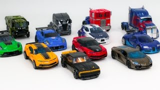 Transformers 4 AOE Autobots vs Decepticons Optimus Prime Bumblebee 12 Vehicle Robot Car Toys