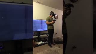 VR Fail: My buddy tried VR for the first time last night. I ended up with a broken TV