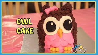 HOW TO MAKE A CUTE OWL CAKE
