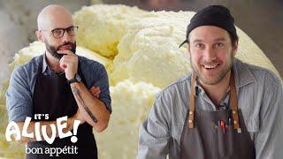 Brad and Babish Make Ricotta Cheese | It's Alive | Bon Appétit