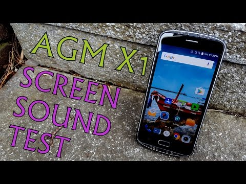 AGM X1 screen test/sound/speakers/volume loudness/headphones (SAMSUNG Amoled)