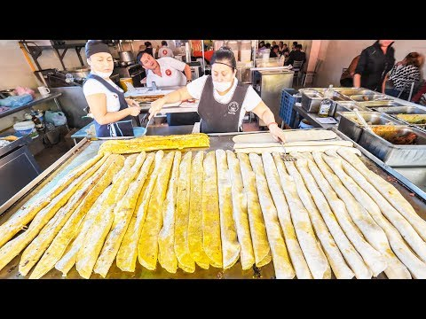 MASSIVE Mexican STREET FOOD Tour in MEXICO CITY MACHETE TACOS SPICY TACOS AL PASTOR from HEAVEN