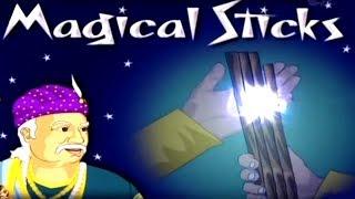 Akbar Birbal Stories | Magical Sticks | Hindi Animated Stories For Kids | Masti Ki Paathshala