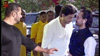 Salman,Shahrukh,Aamir,Amitabh,Rekha,Karishma,Katrina,Sachin Arrives At Neeta & Mukesh Visit  Ganpati