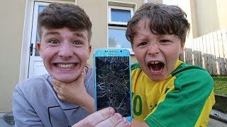 I broke my little brother's phone (He nearly cried...)