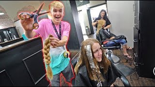 I CUT OFF ALL OF MY SISTER'S HAIR!!