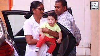Taimur Ali Khan SPOTTED At Mommy Kareena's BFF Amrita Arora's House | LehrenTV