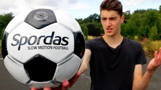 Testing a 'SLOW MOTION' Football!!