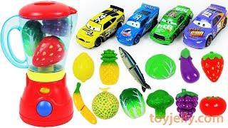 Feeding Baby Food Disney Cars Learn Colors Toy Blender Fruits Vegetables Velcro Toys Nursery Rhymes