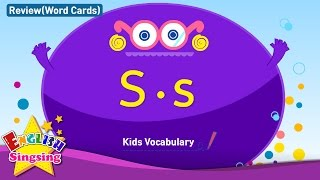 Kids vocabulary compilation - Words starting with S, s - Word cards - review