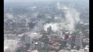 *BIG QUAKE* Rocks Mexico - Large 7.1 South of Mexico City - Buildings Collapsed