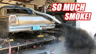 Diesel NOOBS Try to Dyno a Cummins Powered Galaxie (Complete Disaster)