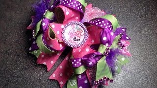 HOW TO: Make a 6 inch over the top stacked hair bow